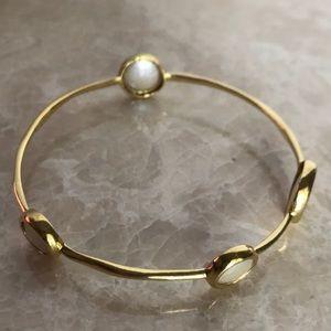 IPPOLITA 18k  solid gold mother Perl's bracelet